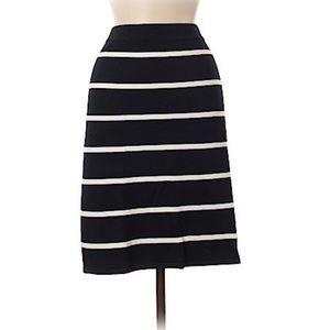 Ivanka Trump Navy Blue & White Striped Skirt